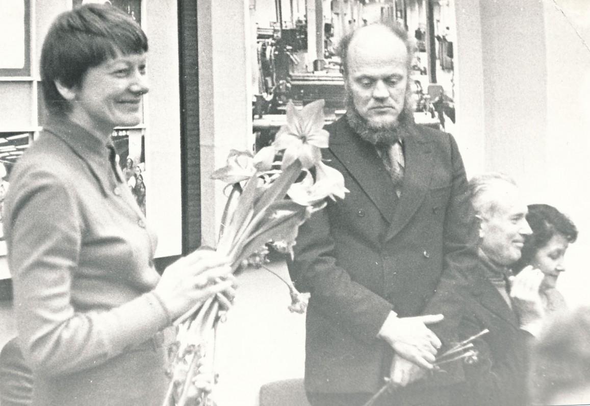 Su aktore G. Urbonaite susitikime su skaitytojais. 1979 m. vasario 15 d.