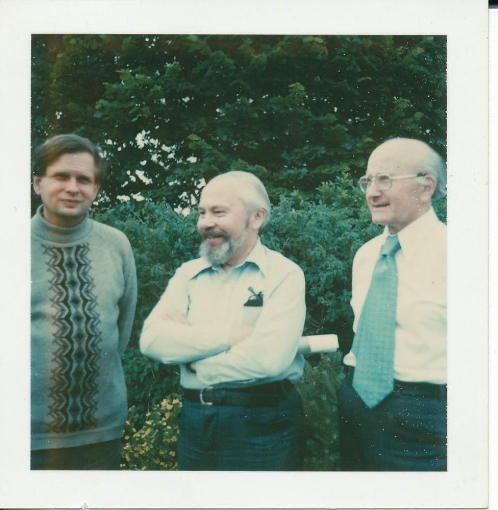 T. Venclova, K. Bradūnas, A. Vaičiulaitis. Apie 1979 m.