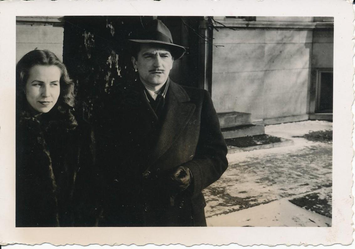 Z. ir M. Katiliškiai. Čikaga, 1955 m.