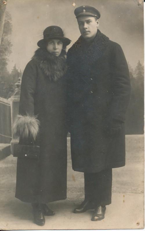 Zinos tėvai – Augustinas Nagys ir Antanina Grundman. Mažeikiai, 1919 m.