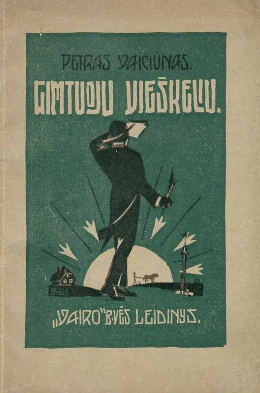 """""""Gimtuoju vieškeliu"""". – Kaunas, 1927 m."""