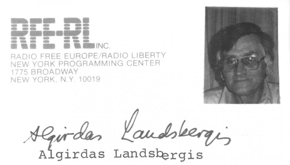 """""""Laisvosios Europos"""" radijo bendradarbio kortelė"""