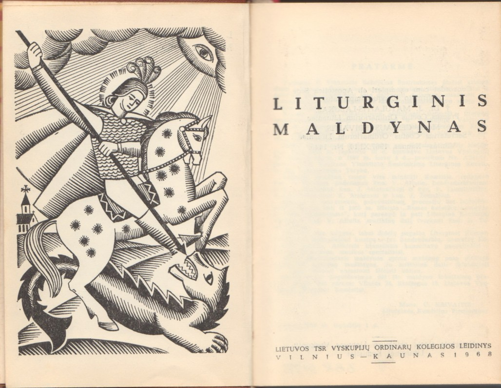 """Liturginis maldynas"". Vilnius – Kaunas. Lietuvos TSR Vyskupijų ordinarų kolegija, 1968 m. Titulinis lapas"
