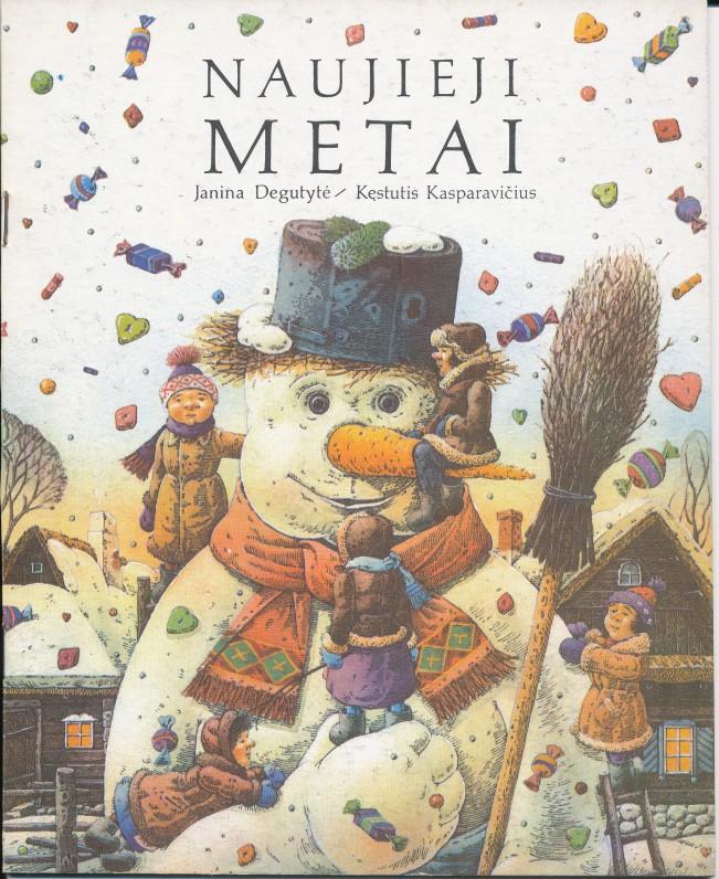 """""""Naujieji Metai"""". Leidykla """"Pegasas"""" 1990 m. Dailininko Kęstučio Kasparavičiaus iliustracijos knygutei """"Naujieji Metai"""" 1990 m."""