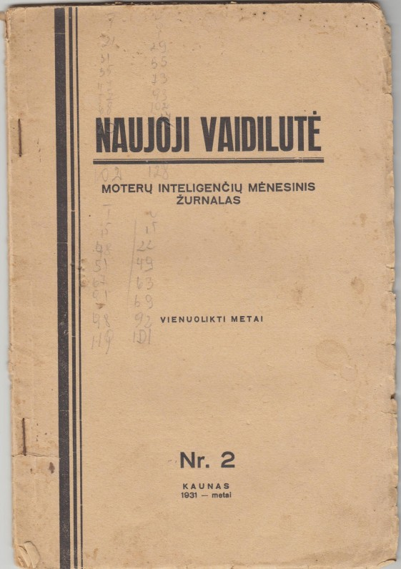 """""""Naujoji Vaidilutė"""" surengė dar du moterų kūrybos vakarus – 1935 ir 1938 metais"""