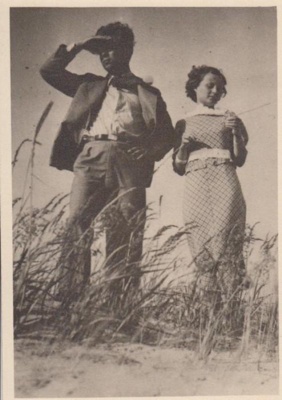 1935 m. su žmona Palangoje