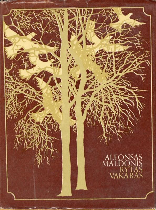 """1980 m. Poezijos rinkinio """"Rytas vakaras"""" antrasis leidimas. Už šį rinkinį """"Rytas vakaras"""" A. Maldoniui paskirta 1979-ųjų Respublikinė premija"""