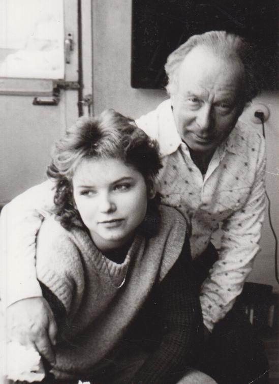 Su anūke Lina apie 1986 m.
