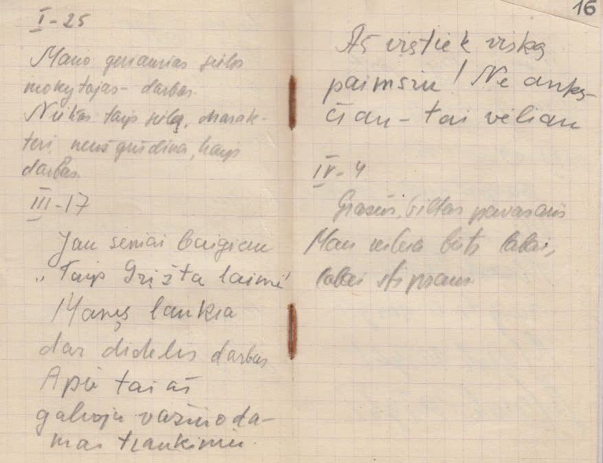 Iš užrašų knygelės… 1949 m.