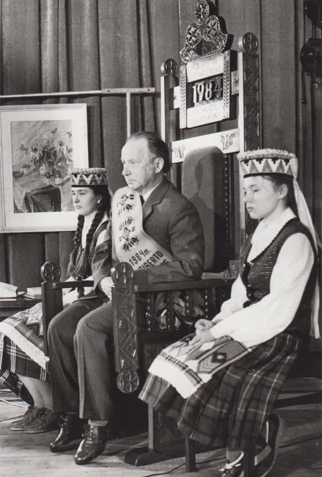 K. Marukui P. Ziberto premijos įteikimas, 1984 m.