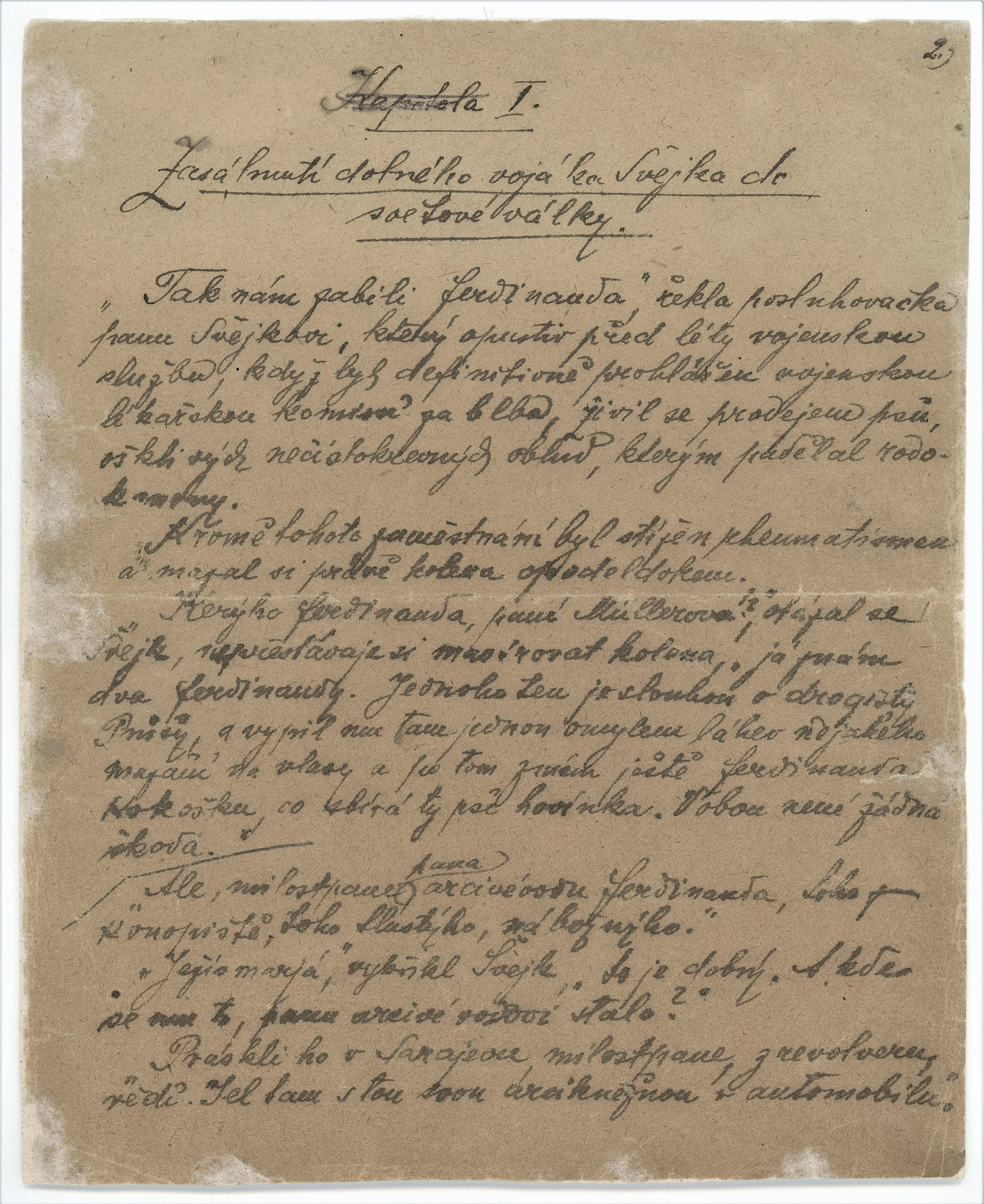 The manuscript of the novel