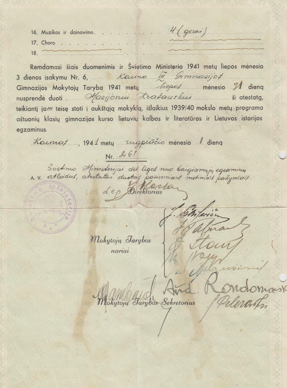 Atestatas 1941 08 01