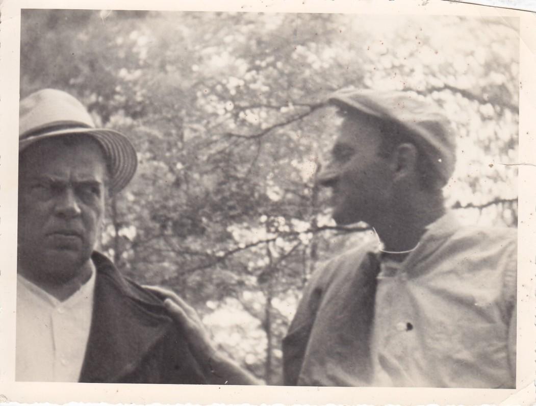 """A. Gustaitis, vaidinantis pagal J. Jankaus kūrybą sukurtame filme """"Velnio bala"""". JAV. Apie 1960 m."""