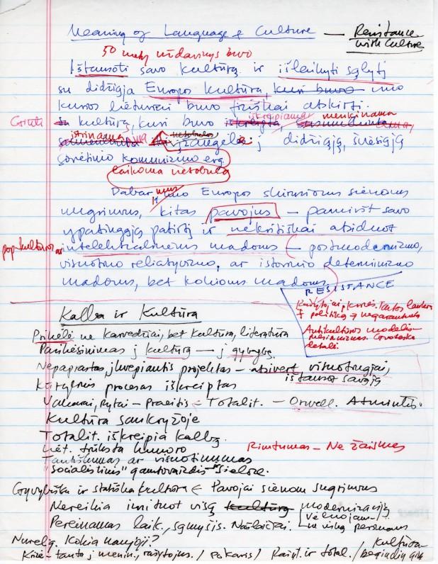 """A. Landsbergio straipsnio """"Kalbos ir kultūros prasmė"""" apmatai"""