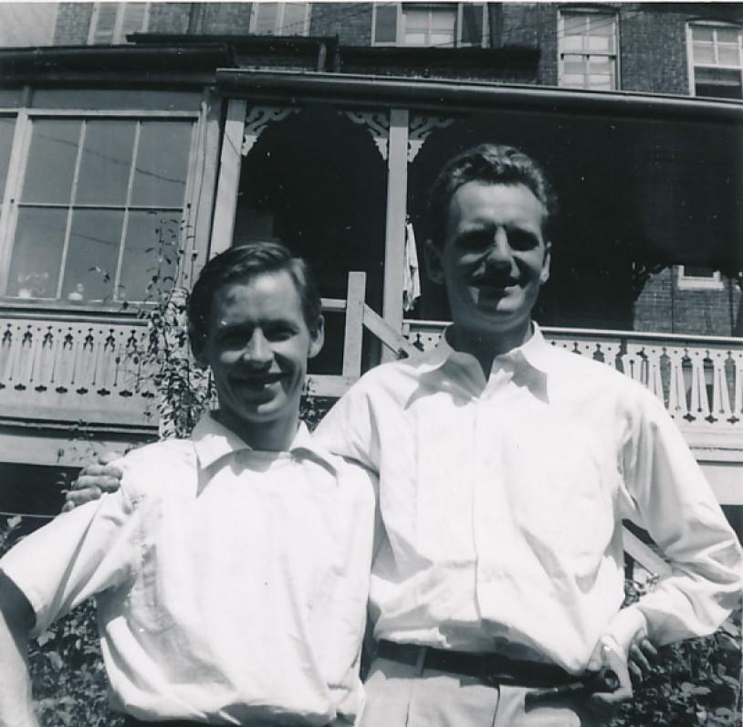 A. Nyka-Niliūnas ir J. Kaupas. 1945 m.