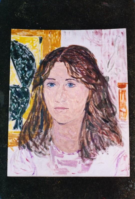 A. Veščiūnaitės pieštas dukros Dalios portretas