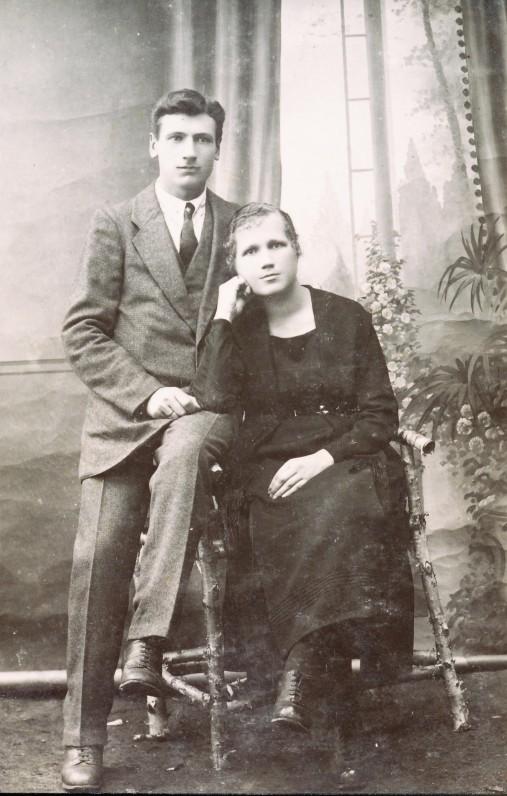 Aldonos tėvai – Anupras ir Ona Veščiūnai. Pandėlys. 1921 m.