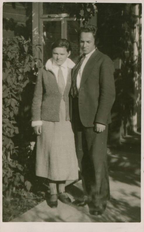 B. Buivydaitė su vyru. 1928 m.