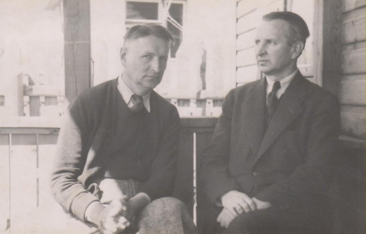 Balys Sruoga ir Juozapas Sruoga. Kaunas, 1938 m.