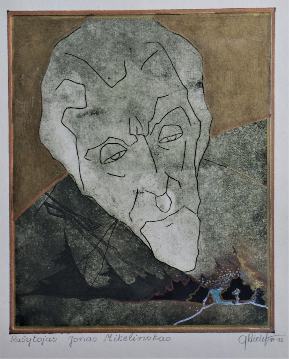 Dail. Gražina Didelytė. Jono Mikelinsko portretas. 1989–1992 m.