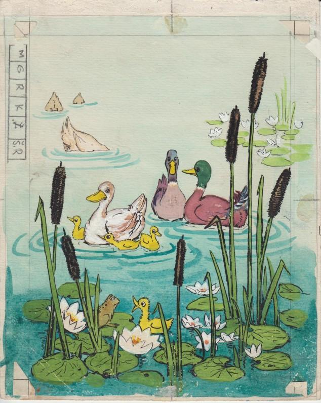 """Dail. I. Geniušienės iliustracija knygai """"Jonytės pasakėlės"""". 1956 m., 2"""