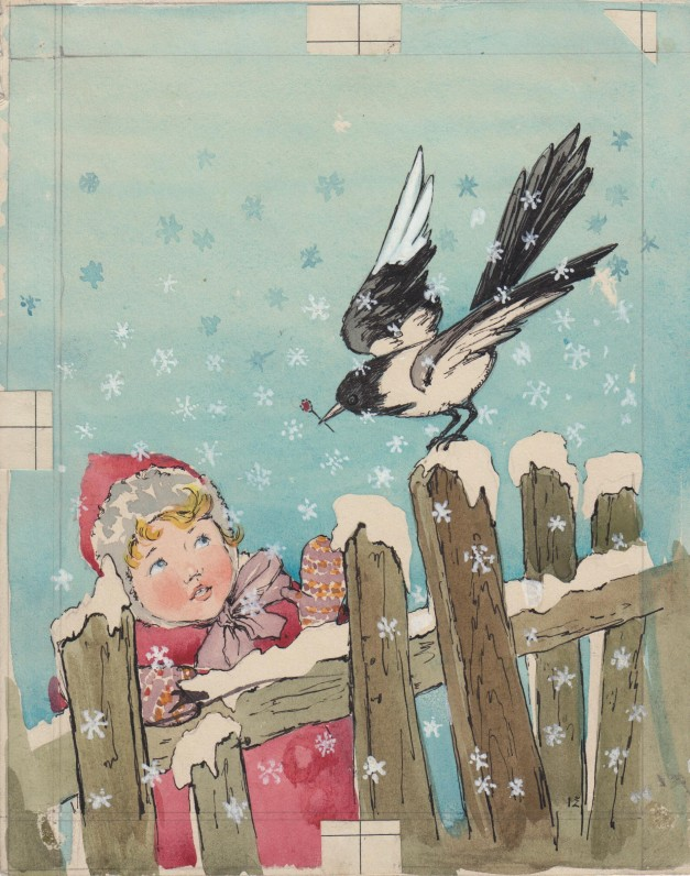 """Dail. I. Geniušienės iliustracija knygai """"Jonytės pasakėlės"""". 1956 m."""