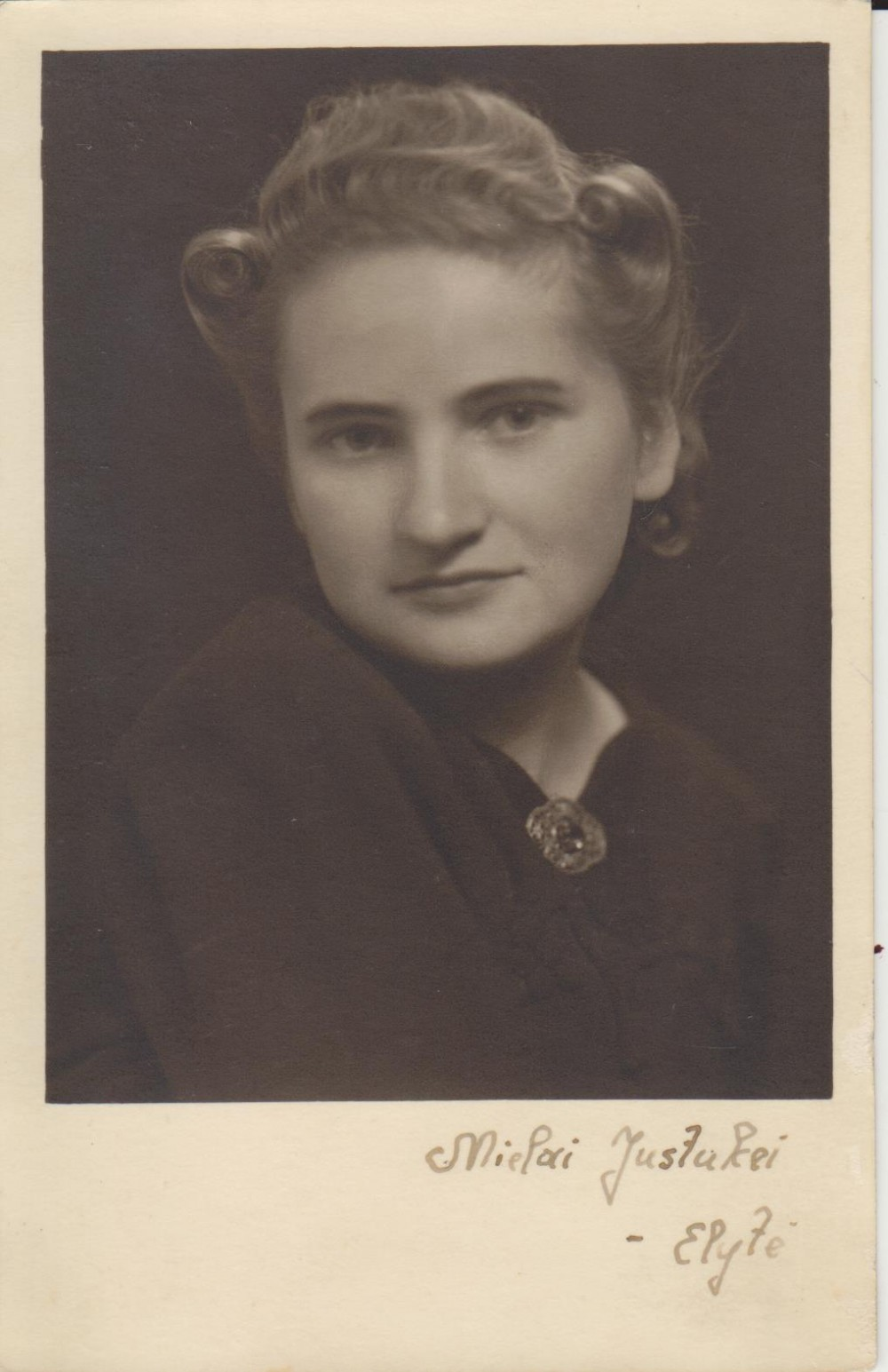 Elena Spurgaitė. Apie 1946 m.