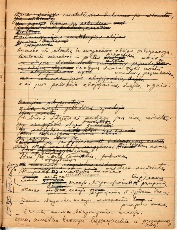 H. Nagio rankraštiniai sąsiuviniai