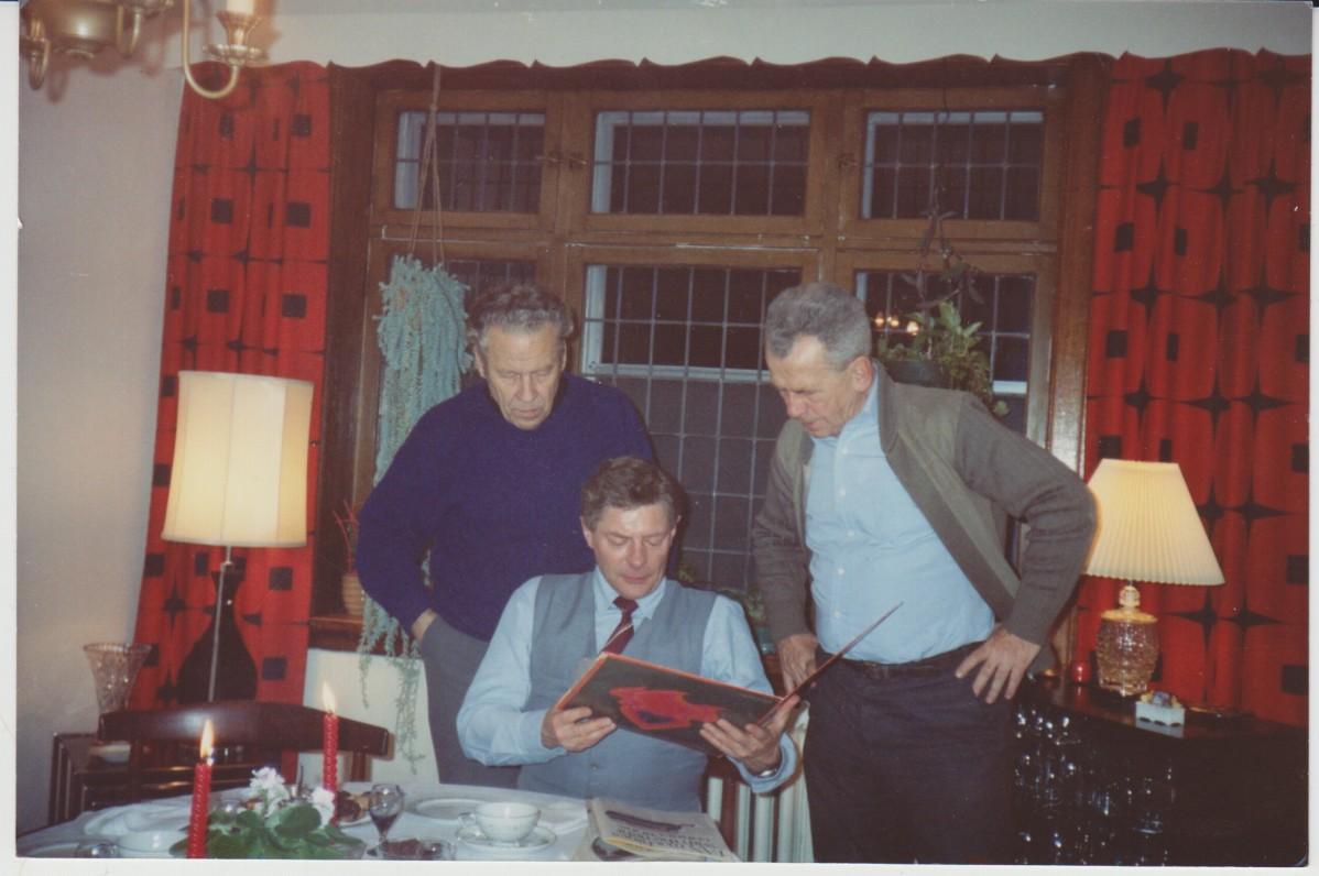 H. Nagys, L. Jacinevičius ir V. A. Jonynas. Montrealis. 1989 m.