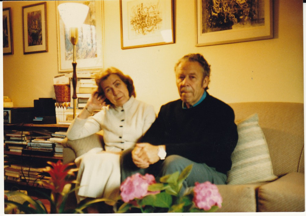 H. Nagys su Zinaida Nagyte-Katiliškiene. Monrealis, 1987 m.
