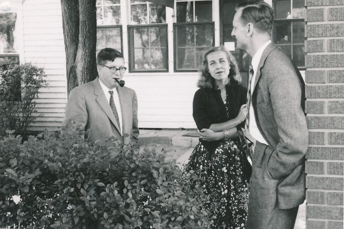Iš kairės – J. Girnius, Z. Nagytė, J. Kaupas