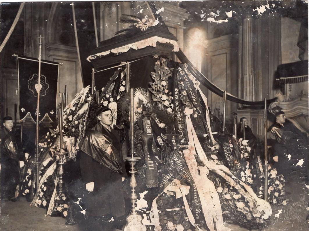 J. Jablonskio laidotuvės. Kaunas. 1930.02.25