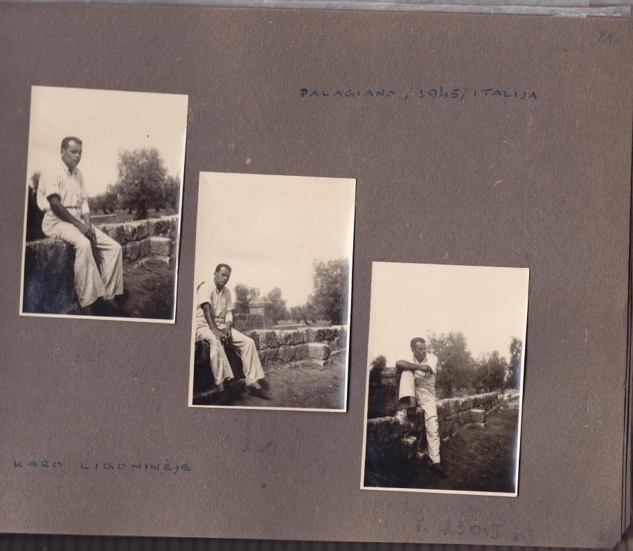 J. Kėkšto nuotraukų albumo fragmentai