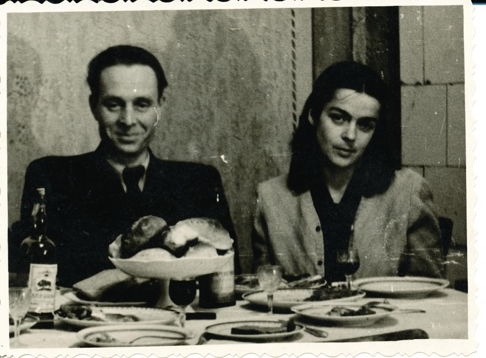 J. Mikelinskas su žmona Aldona Merkyte 1958 m.
