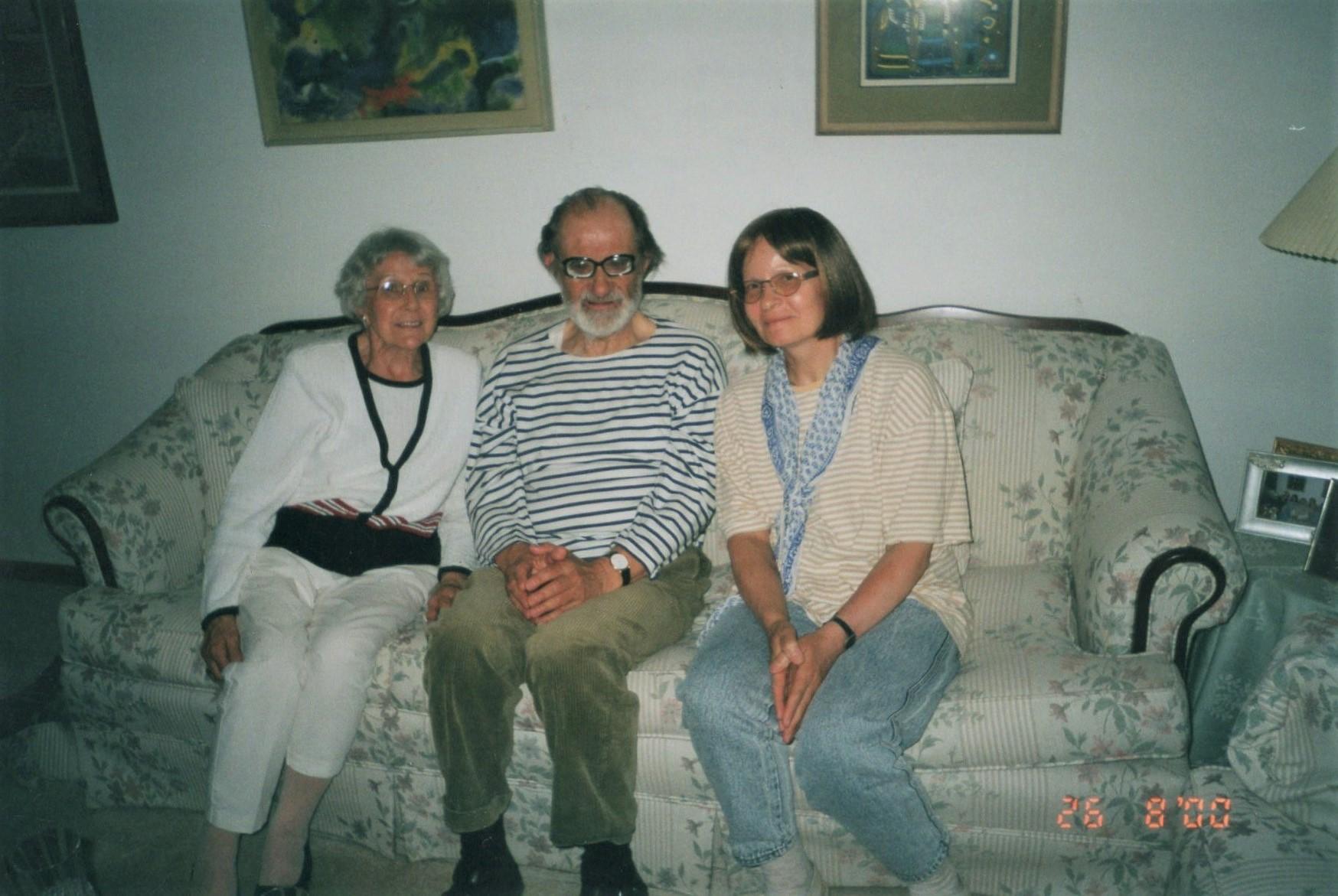J. Švabaitė su V. ir N. Bložėmis. Čikaga, 2000 m.
