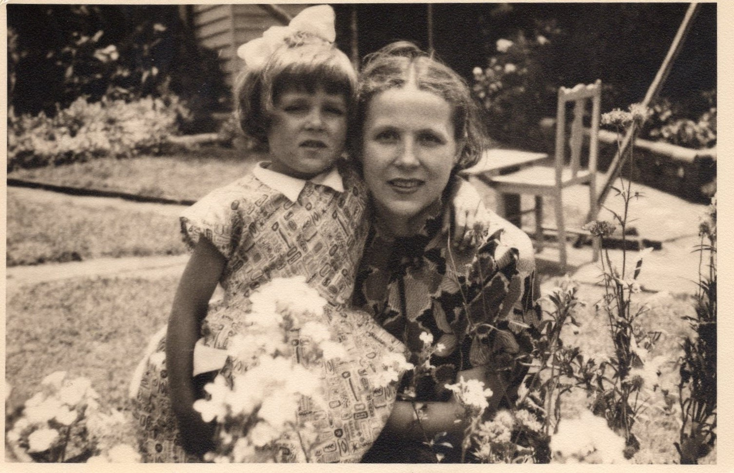 J. Švabaitė su dukra Aušra. Australija, apie 1953 m.
