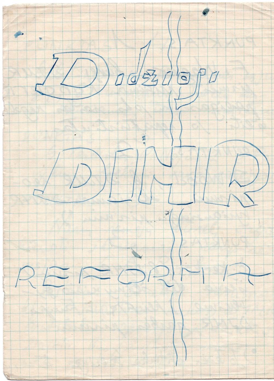 Juliaus Kaupo ir jo draugų įsteigtos draugijos DIMR nuostatai