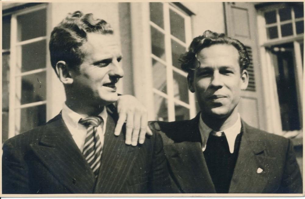 Julius Kaupas ir Henrikas Nagys. Tiubingenas, apie 1946 m.