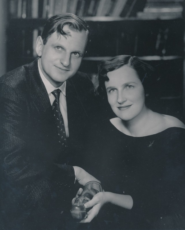 Julius Kaupas su žmona Dalia Galaunyte-Kaupiene. JAV, 1958 m.