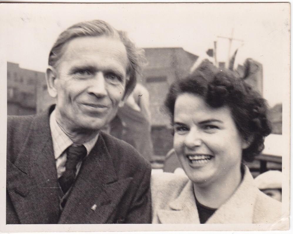 Kazimieras ir Marija Barėnai. Anglija. Apie 1950 m.