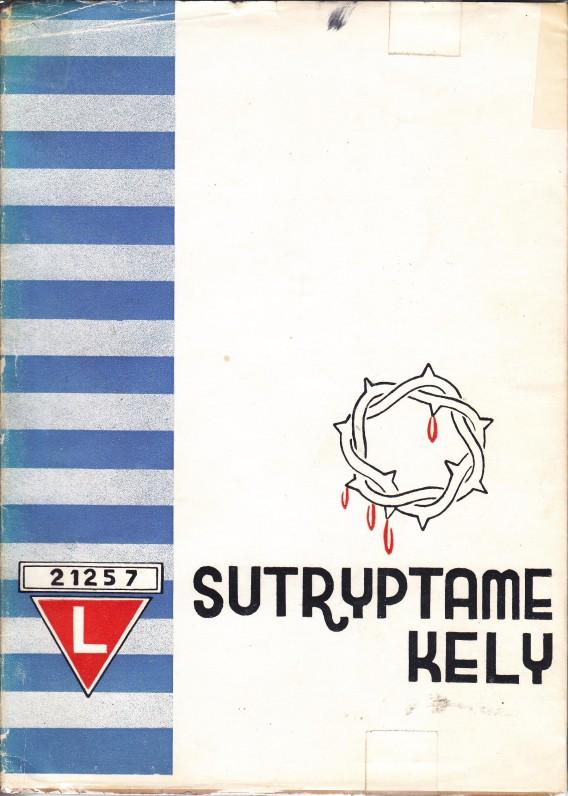 """Kirchheim-Teck. 1947 m. Šios S. Ylos eilėraščių knygos paantraštė – """"Kaceto poezija"""". Viršelyje autorius pasirašo savo – Štuthofo kalinio – numeriu, o tituliniame lape slapyvarde Juozas Yluvis"""