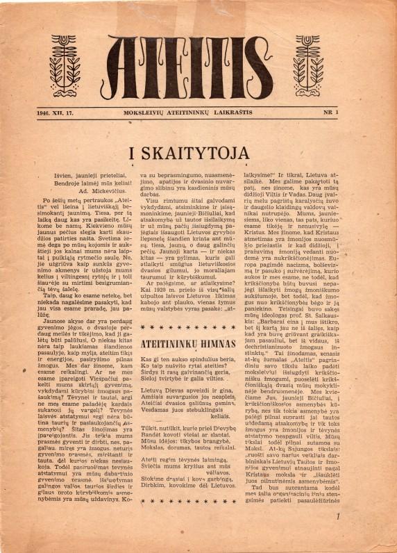 Laikraštis, kurį redagavo ir kuriame bendradarbiavo V. Kazokas