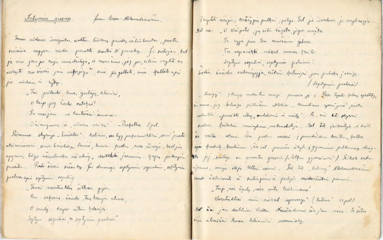 M. Indriliūnas apie J. Kossu-Aleksandravičiaus poeziją