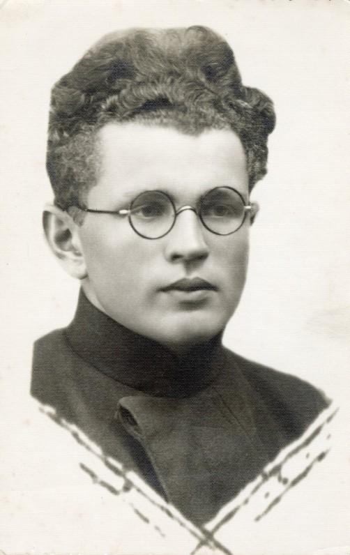 """Mamertas Indriliūnas. Antroje pusėje užrašas """"Atminimui Mykolui Mamertas 1938-VI-18."""" Biržai. Fotografė V. Bortkevičiūtė"""