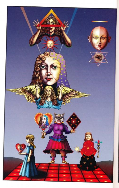 "Mykolo Povilo Vilučio iliustracija O. Baliukonės knygai ""Gilanda kopų karalienė"""