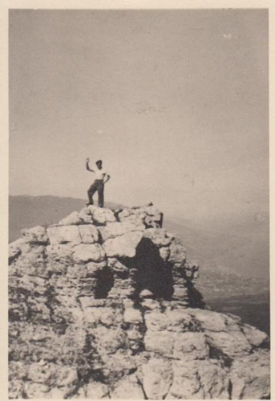 P. Cvirka 1938 m. Krymas, Ai-Petri viršūnė