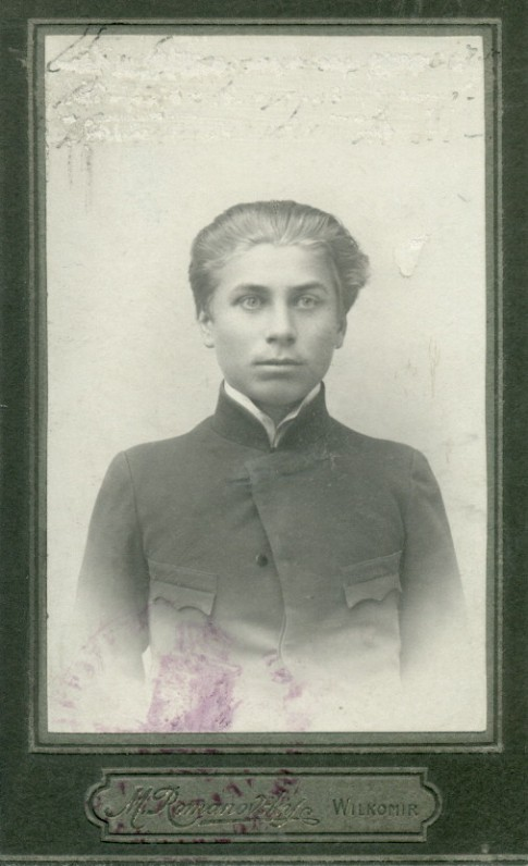 P. Vaičiūnas – Ukmergės gimnazijos mokinys 1903–1904 m.