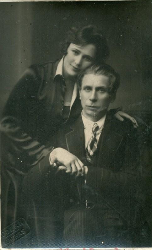 P. Vaičiūnas su žmona Teofile Vaičiūniene. Kaunas, 1926 m.