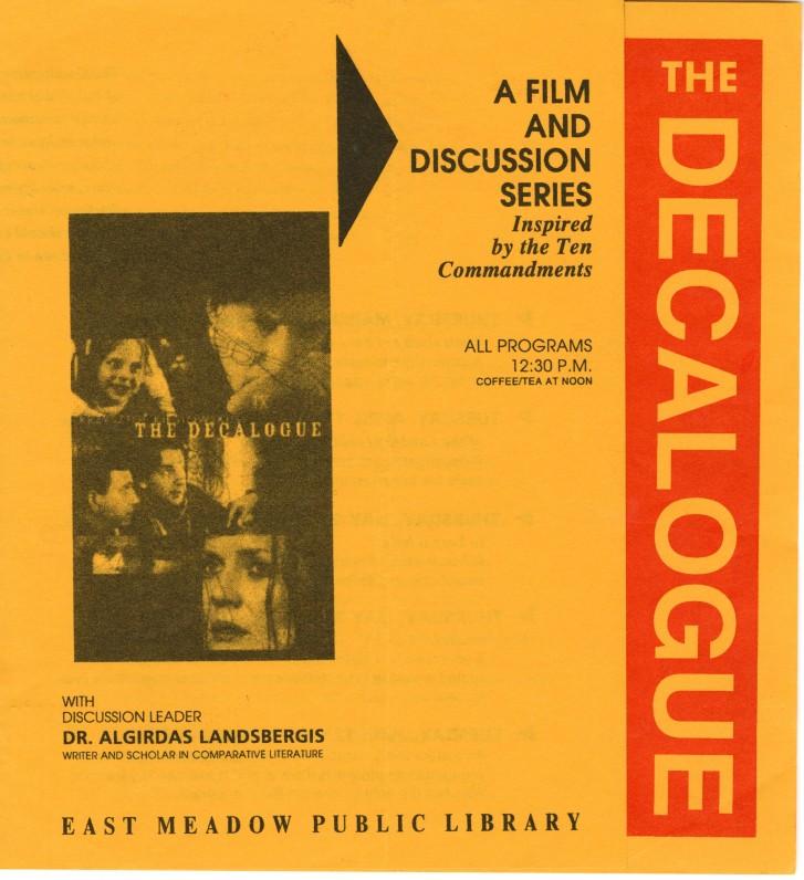 Pokalbio–diskusijos su A. Landsbergiu Viešojoje bibliotekoje reklaminis plakatas