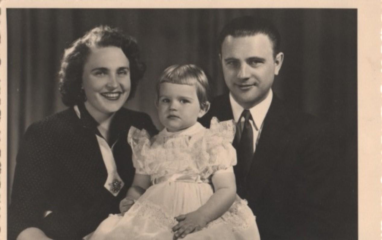 S. Džiugas su žmona Sofija ir dukra Judita. Apie 1948 m. Vokietija